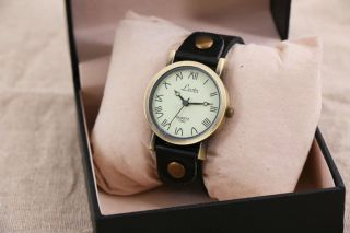 Herren Uhr Damen Armbanduhr Lederarmbanduhr Watch Analog L.  23cm Bild