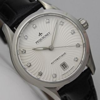 Pequignet Elegance Dame 11 Diamanten Automatik Uhr Ø 34 Mm Bild