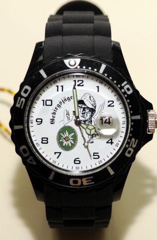 Gebirgsjäger Imc Silco Schwarz Armbanduhr Uhr Günstig Ovp Sonderedition Bild