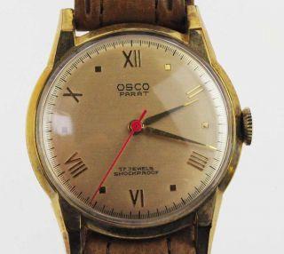 Osco Parat Watch Damen Herren 1950 /1960 Handaufzug Lagerware Nos Vintage 77 Bild