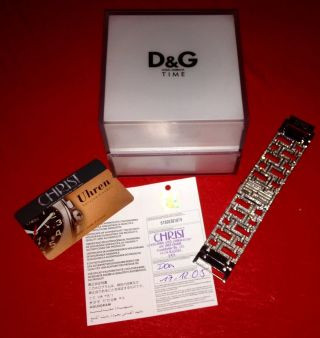 Dolce & Gabbana Ladies D&g Edie Crystal Damen Uhrnp 325€ Bling Bling Strass Bild