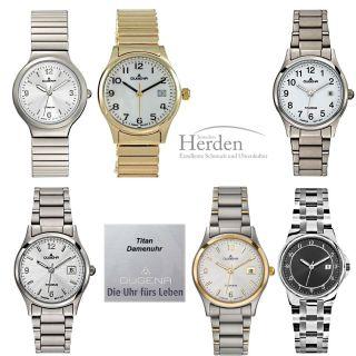 Dugena Titan Damen Uhr Titanuhr Quarz Damenuhr Armband Titan Zugband Bild