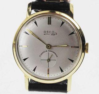 Osco 107 Watch Damen Herren 1950 /1960 Handaufzug Lagerware Nos Vintage 50 Bild