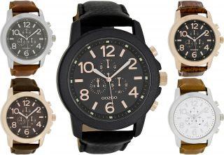 Oozoo Xl Uhr Lederband 46mm Verschiedene Farben 6060 Bild
