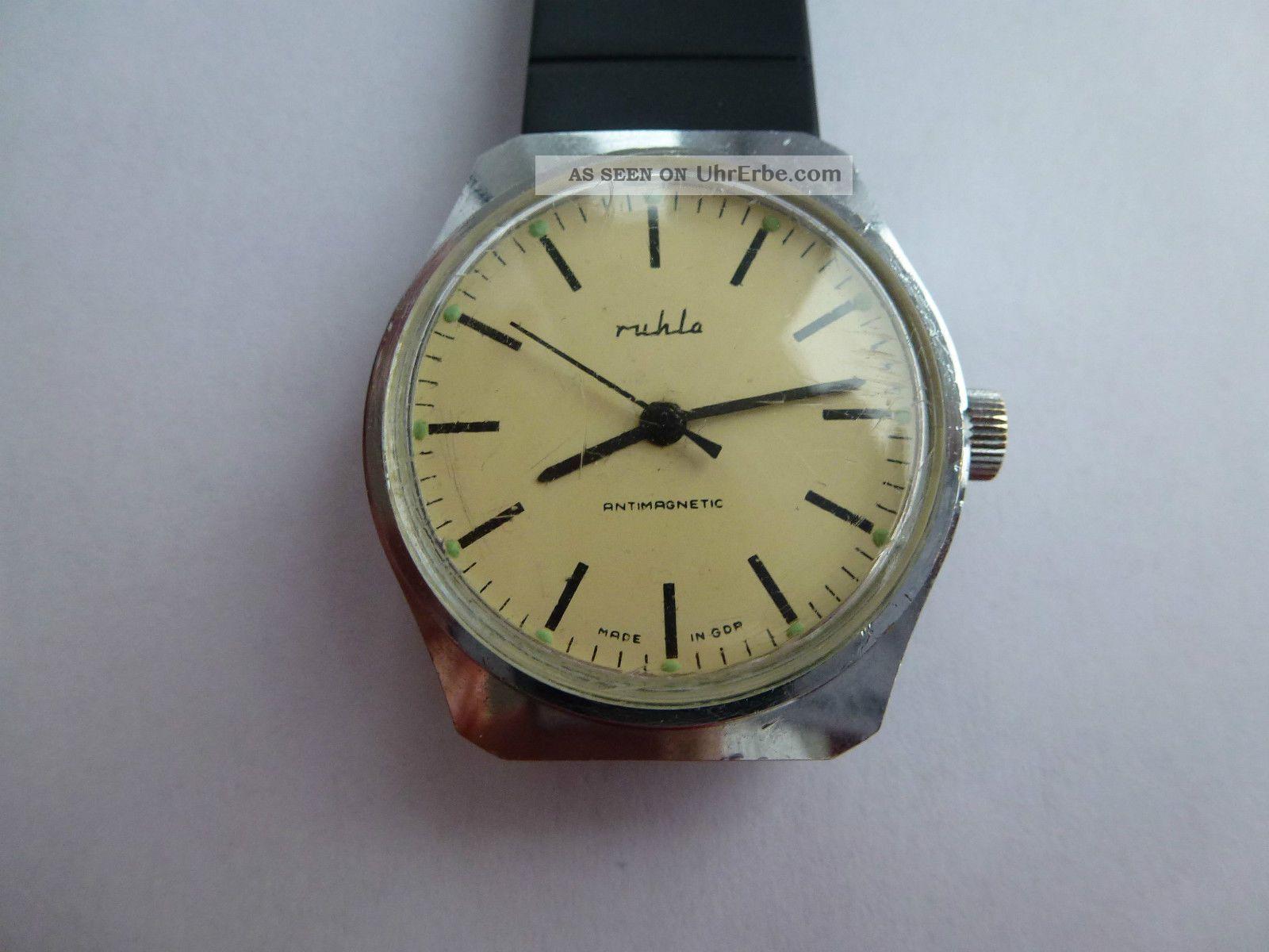 Hau Ruhla Kult Uhr Aus Der Ddr,  70er. Armbanduhren Bild
