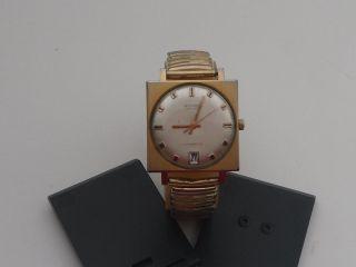 Vintage Anker 25 Rubis Herren Armbanduhr Automatic Vergoldet Flexi Armband (52g) Bild