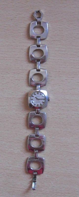 Viintage Aristo Damenuhr Rhodium Plated Armbanduhr (39g) 17 Jewels Shockproof Bild