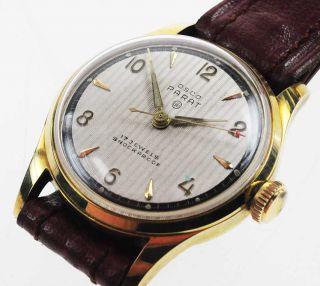 Osco Parat Watch Art Deco Damenuhr 1940/50 Handaufzug Lagerware Nos Vintage 78 Bild