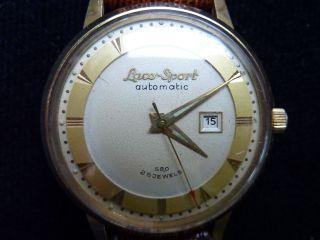 Laco Sport Automatik Uhr 585 Gold Von 1958 Bild