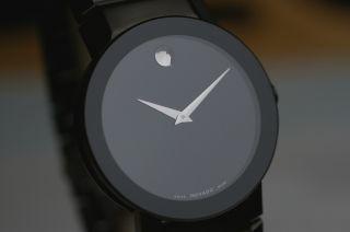 Movado Black Sapphire Museums Watch Ref.  0606307 Box,  Papiere 2 Jahre Ganrantie Bild