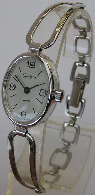 Ungetragene GlashÜtte Damenarmbanduhr Kaliber Gub 38 Ddr Zeit Bild