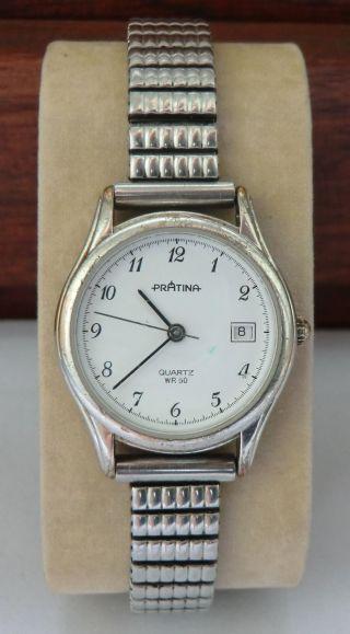 Armbanduhr Pratina Mit Metallarmband _ Damenuhr Mit Quarzwerk _ Aus Sammlung Uhr Bild