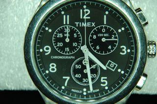 Armbanduhr,  Timex,  Chronograph,  Lederarmband Bild