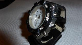 Armbanduhr Jay Baxter Unisex Datumsuhr Lederarmband Wasserresistent Bild