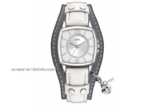 S.  Oliver Armbanduhr Damen,  Leder Armbanduhren Bild