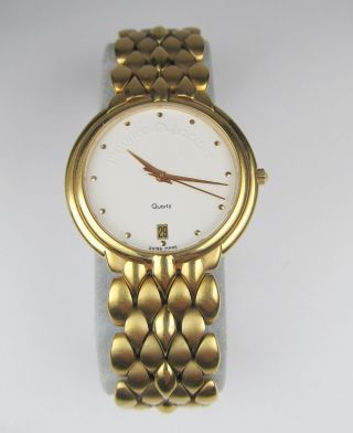 Maurice Lacroix Uhr Vergoldet Herren Damen Armband Analog Datum Quarz Schweiz Bild