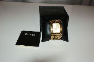 Guess Damenuhr Gold Uhr Damen Heavy Metal Mit Verlängerungsglied Bild