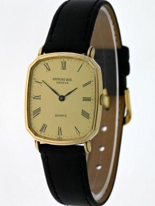 Raymond Weil Classic 5317 Unisex Dresswatch 18k.  Gold Electroplated - 90ies Bild