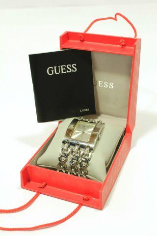 Guess Heavy Metal Damen Armband Uhrw0314l1 Edelstahl Poliert Inkl.  Box Bild