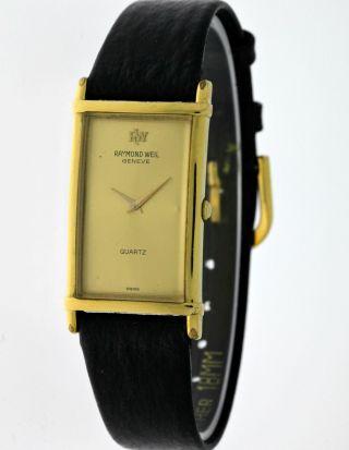 Raymond Weil Classic Rectangular 5742 Damen 18k.  Gold Electroplated - Box&papiere Bild