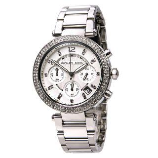 Michael Kors Uhr Mk5353 Parker Damen Chronograph Edelstahl Armbanduhr Analog Bild