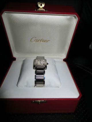 Cartier Tank Francaise Mittl.  Modell M.  Rechnung,  Box Wie Bild
