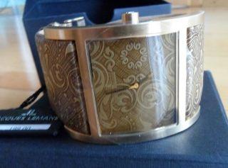 Damen - Armbanduhr Von Jacques Lemans,  Sehr Groß,  Goldf. ,  Lederband,  Np 199,  00 Bild
