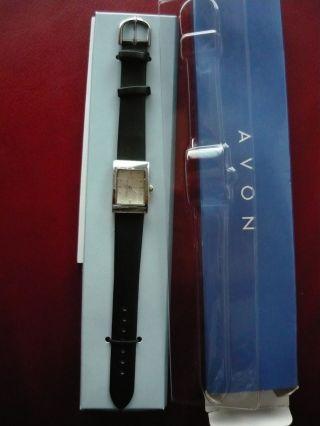 Neue Armbanduhr F Schwarz Quarzuhr Von Avon Uhr Bild