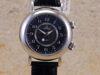 Poljot Handaufzug Mit Wecker/herren Armbanduhr Simple Round W99 Bild