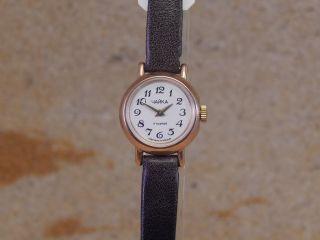 Polijot Tschaika Handaufzug 585 Rot Gold Damen - Armbanduhr W111 Bild