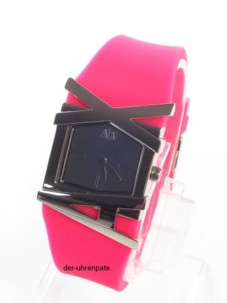 Armani Exchange Damenuhr / Damen Uhr Silikon Pink Silber Selten Ax3149 Bild