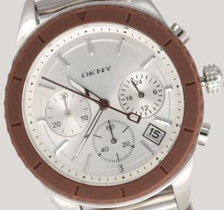 Dkny Donna Karan Ny Damenuhr / Damen Uhr Silikon Chronograph Datum Ny8581 Bild