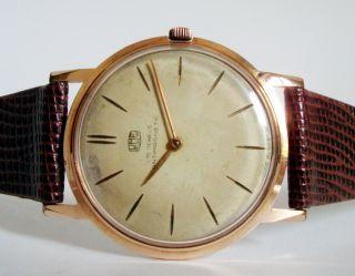 Umf Ruhla Ddr Vergoldet Uhr Handaufzug Sputnik Max Bill Ära 60er Jahre Rare Bild