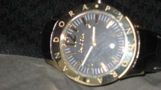 Tolle Pandora Damenuhr.  Schwarz,  Gold.  Top. Bild