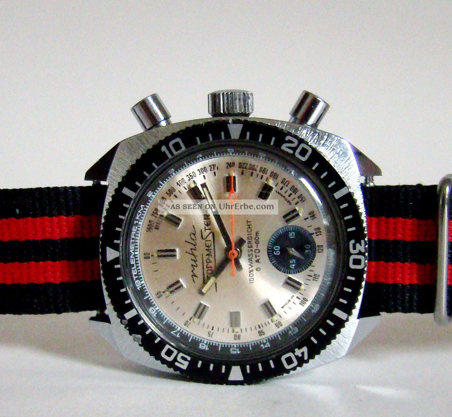 Ruhla Ddr Stoppmeister Flyback Chrono - Klassiker 70er Rare Armbanduhren Bild