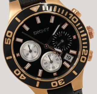 Dkny Damenuhr / Damen Uhr Leder Chrono Datum Ny4995 Bild