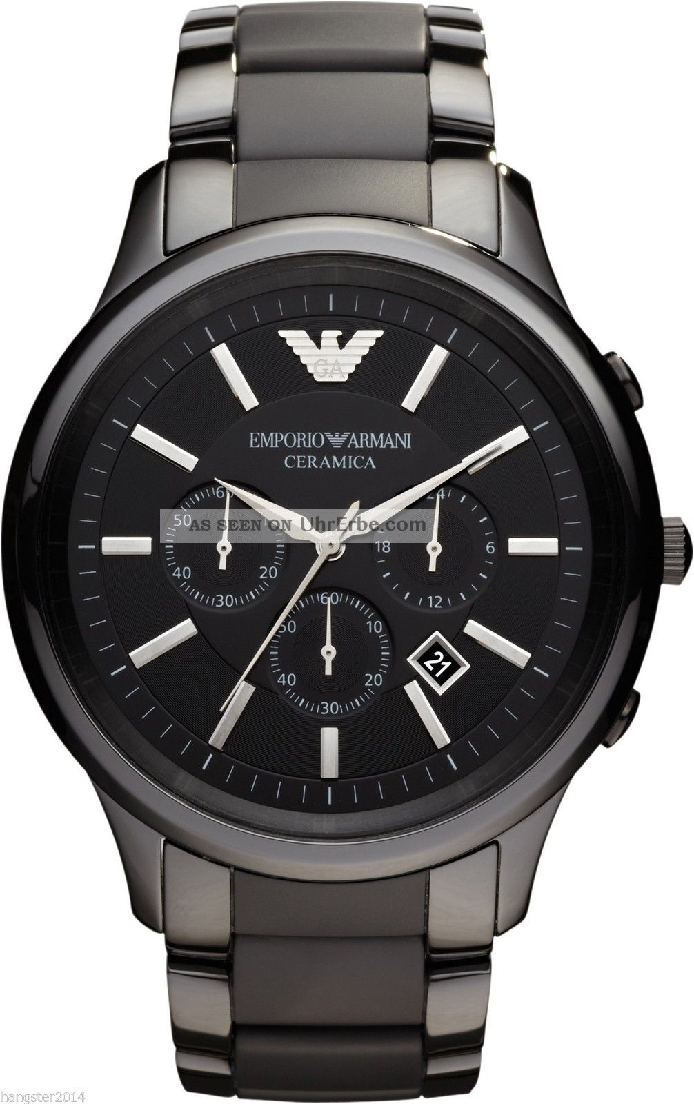 emporio armani herren uhr xl ar1451 ceramica chronograph. Black Bedroom Furniture Sets. Home Design Ideas