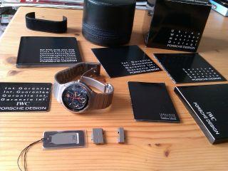 Orig Iwc Porsche Design Titan Chronograph 03 Gold Mondphase - Ref.  3472 Neuwertig Bild