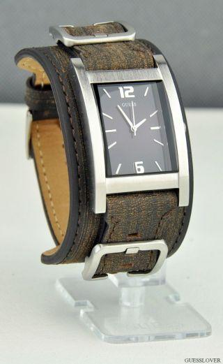 Uhr Uhren Guess Armbanduhr Unisex Herren Braun Leder Quarz Deu Bild