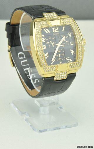 Uhr Uhren Guess Armbanduhr Damen Schwarz Leder Quarz Deu Bild