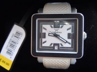 Carrera Cool Angular - 3hd Cw100051002 Unisex Armbanduhr Weiß - Schwarz Bild
