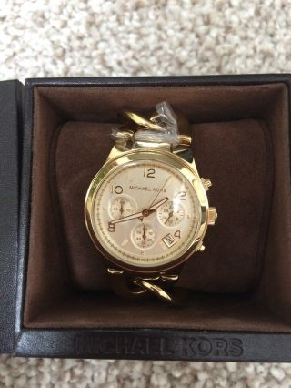 Michael Kors Mk3131 Damenuhr Vergoldet Armbanduhr Uvp 199€ Bild