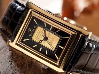 Yves Camani Splendor Mit Echtem Goldbarren Uvp 495,  - Uhr Damenuhr Fachhändler Bild