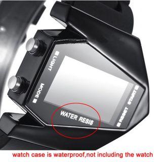 Neue Led Armbanduhren Watches Blaues Licht Datum Flugzeug Form Schwarz Weiss Bild
