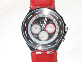 D&g Uhr Unisex Chrono Chronograph Rot Red A 3719770204,  Neuwertig Bild