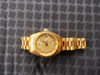 Bulova / Damen Uhr / Mechanisch /edelstahl Goldfarben Bild