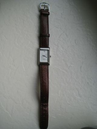 Dkny Damen - Armbanduhr,  Silber Mit Braunem Lederarmband Bild
