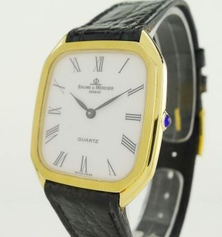 Baume & Mercier 750 / 18kt.  Gold Quartz 47231 - Damen & Herren 30mm - Topzustand Bild