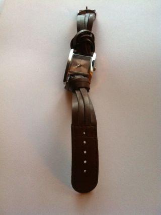 Bergmann Damen - Armbanduhr Lederband Mit Knoten Braun Bild