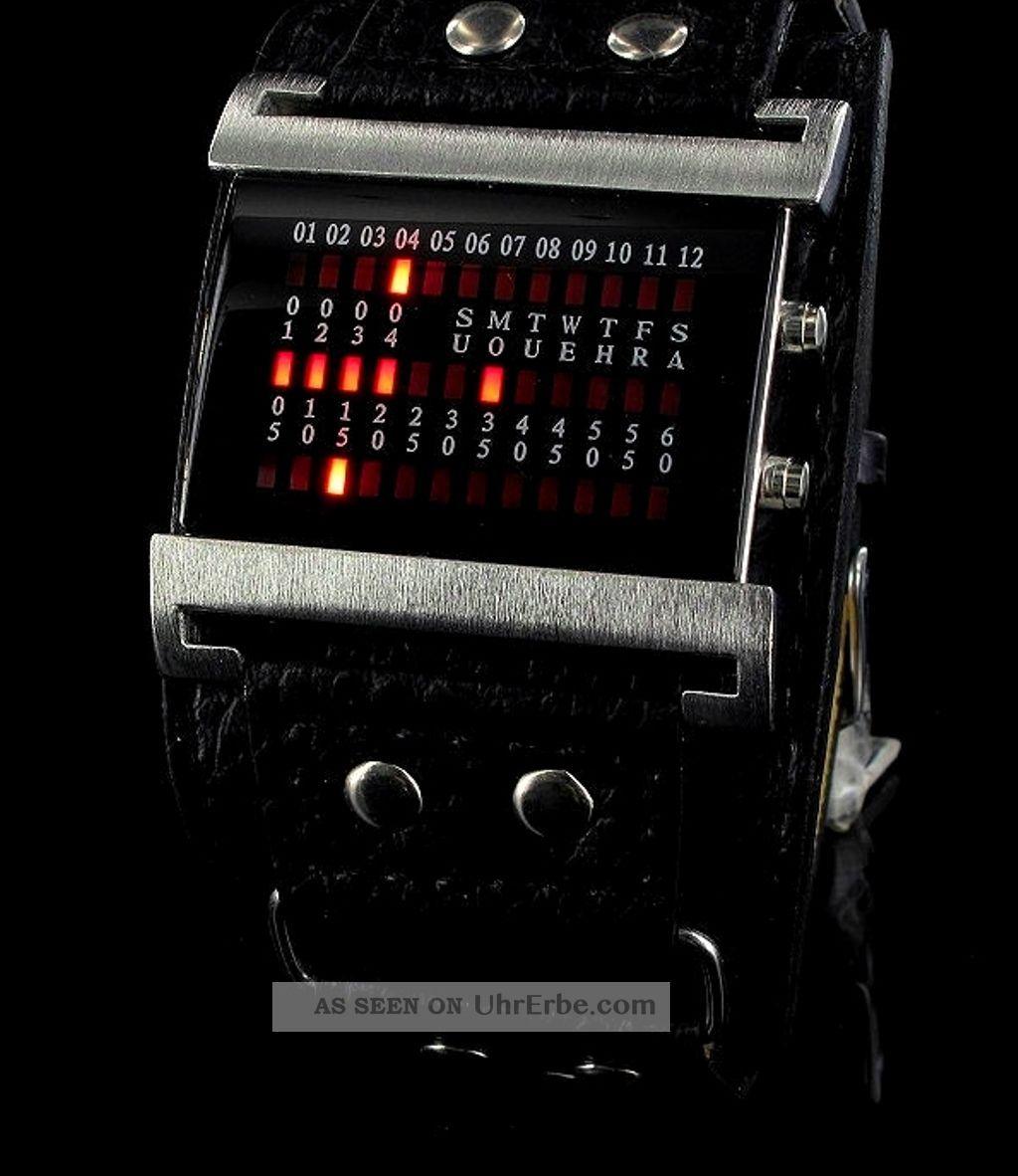 Binre armbanduhr mit datum